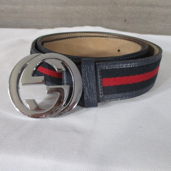 bae9fa073b2 Gucci Accessories - Gucci GG Web Belt Blue Red 142980 1766